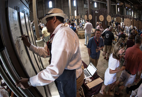 At Charles Krug Winery for 2014 Barrel Auction