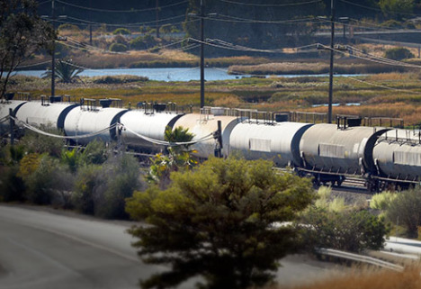 Karin Argoud reports on the increase in crude oil traveling through nearby parts of the Bay Area
