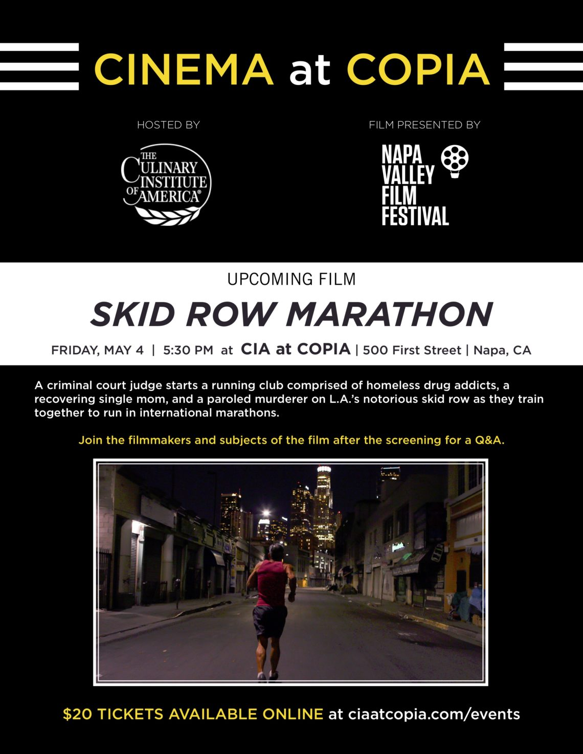 Skid Row Marathon Screening May 4